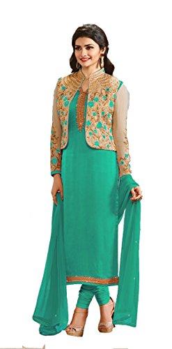 Saiyaji Suits Designer Rama Color Silk Embroidered Part
