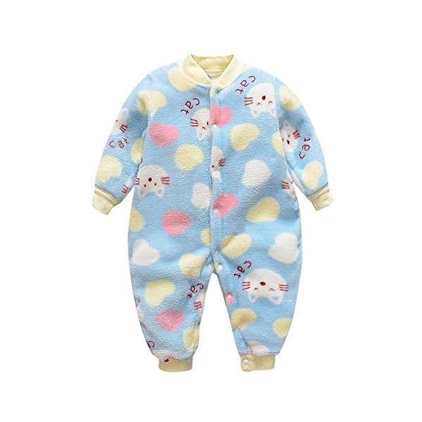 Pijama Bebe 0-18 Meses Mameluco cálido recién Nacido bebé Dibujos Animados Fleece Caliente Mono Suave Pijama de una… 1