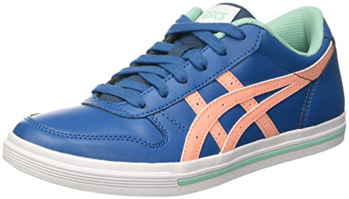 Onitsuka Tiger by ASICS Aaron Gs, Unisex-Kinder Sneakers Blau (Sea Port/Peach Melba)