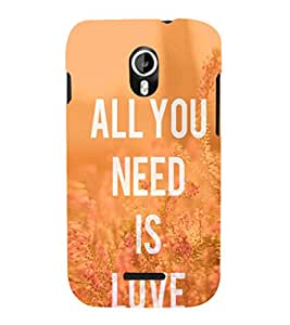EPICCASE All you need is Love Mobile Back Case Cover For Micromax Canvas Magnus A117 (Designer Case)