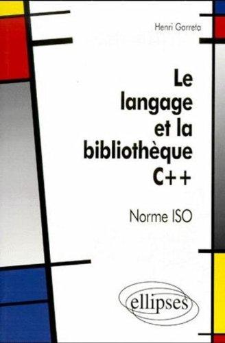 Le langage et bibliographie C++, norme ISO