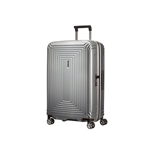 Samsonite Neopulse Spinner 4-Rollen Trolley 69 cm metallic silver colored