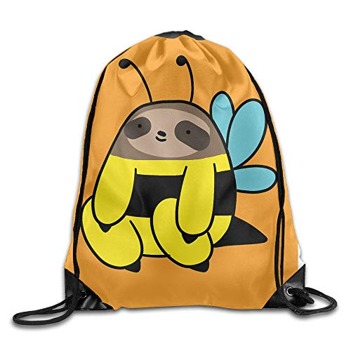 cleaer GOODBAG Gym Yoga Sports School Travel Funny Sweet Bee Sloth Canvas 9eb4d268c8733