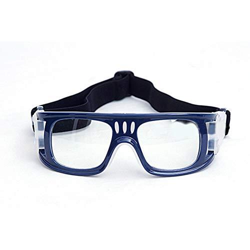 HUIYOU Outdoor-Sport-Basketball-Brille mit verstellbarem elastischem Band zum Umwickeln von Sicherheitsbrillen für Kinder, Erwachsene, Jugendliche, Basketball, Golf, Rugby, Fußball, blau