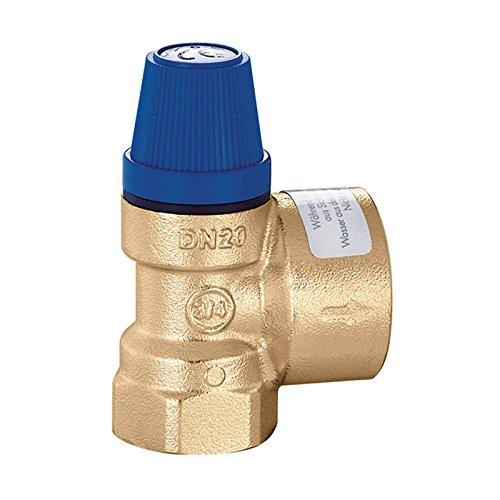 Caleffi Membran Sicherheitsventil 1/2 x 3/4 Zoll Ansprechdruck 6 bar Überdruckventil Druckventil Heizungsventil Druckbegrenzungsventil Membranventil