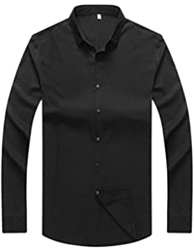 Camisa De Hombre Camisa De Manga Larga Camisa De Negocio Casual Camisa De Suelta Ancha De Gran Tamaño