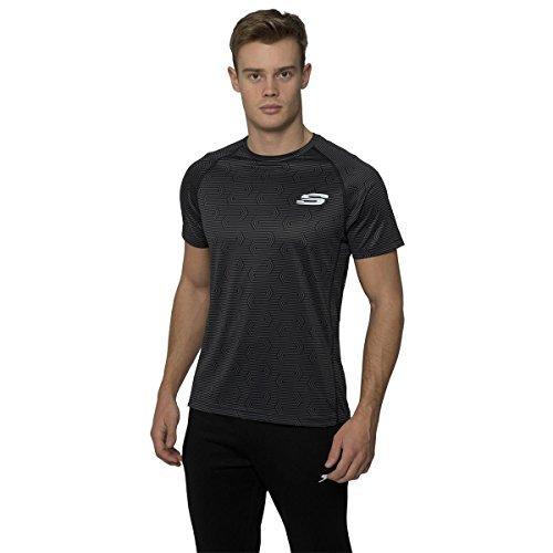 skechers-maglietta-sportiva-uomo-black-x-large
