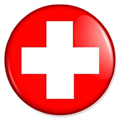 buttons-und-pins Flagge Schweiz Kühlschrankmagnet Magnet Magneten Pinnwand Magnet Pinnwand