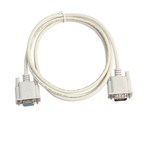 Shage Neue 1.5 / 3 / 5M Serielle RS232-Pin Stecker auf Buchse DB9-Pin PC Converter Verlängerungskabel (B) Sony Xperia Converter