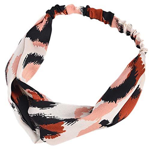 kolila Günstige Haarband Ausverkauf !!! Damenmode Leopard Drucken Stretchy Twisted Niedliches Stirnbänder Haarband Zubehör Haar Klammern(Brown)