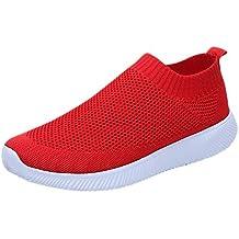 f090ff5e4cbfe Zapatos de Running para Mujer Deportivos Casual Zapatillas de Running con  Fondo de Malla de Tejido