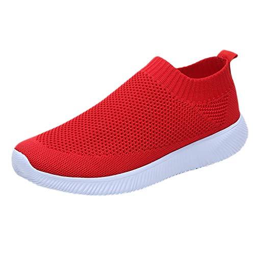 Riou-Stiefel Damen Laufschuhe Mesh Atmungsaktiv Wasserdicht Turnschuhe Outdoor Running Fitness Sportschuhe Schnürer Lässige Schuhe -