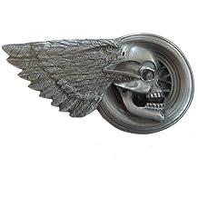 Buckle Cinturón Hebilla Winged Calavera Cráneo Águila Eagle Wheel + regalo bolsitas