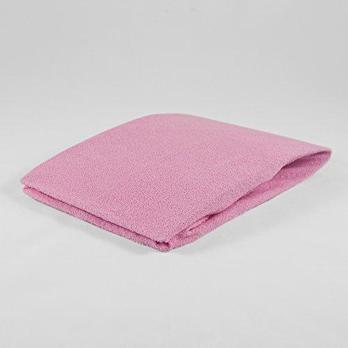 Frottee Spannbettlaken 40 x 90 cm rosa Laken Bettlaken Wiege Spannbetttuch Betttuch