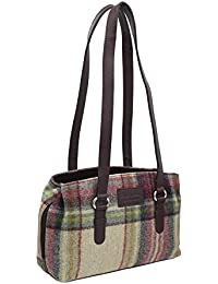 293926652dff Mala Leather ABERTWEED Collection Twin Strap Leather   Tweed Shoulder Bag  727 40