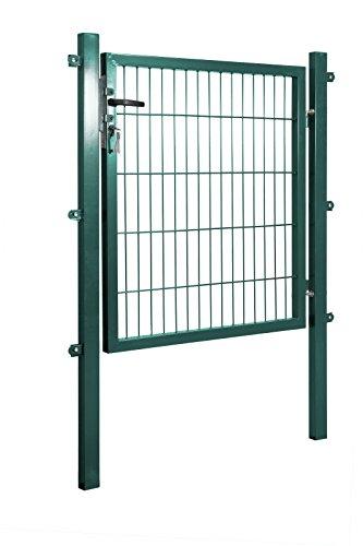 Gartentor 100 x 80 cm (BxH) in grün für Stabmattenzäune inkl. Befestigungsmaterial