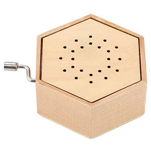Wifehelper Music Box, Hand Crank Antique Carved Wooden Musical Boxes Classic Carved Wooden Musical Gift for Birthday Christmas(Giraffe)