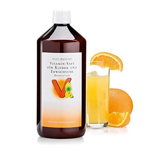 Sanct Bernhard Vitamin-Saft für Kinder und Erwachsene mit Vitamin C, B, Folsäure, Biotin, Niacin, Pantothensäure - Konzentrat -