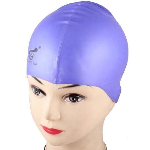 Par de calentadores de cúpula de adultos con escudo del Arsenal F.C, luz morada de silicona gorro de natación