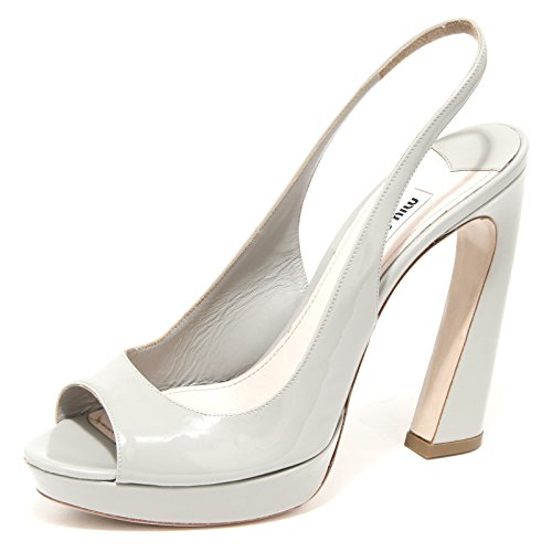 42480 sandalo MIU MIU scarpa donna shoes women grey light [40]
