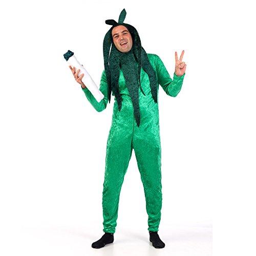 Marihuana Koks Overall Kostüm mit Kopfteil Fun Kostüm Party Gag Kostum für Junggesellenabschied grün - (Kostüme Marihuana)