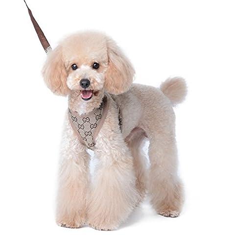 PETCUTE Einstellbar Hund Harness Weste Leine Set Leads Pet Soft