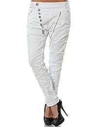 Damen Boyfriend Jeans Hose Reißverschluss Knopfleiste (weitere Farben) No 14145