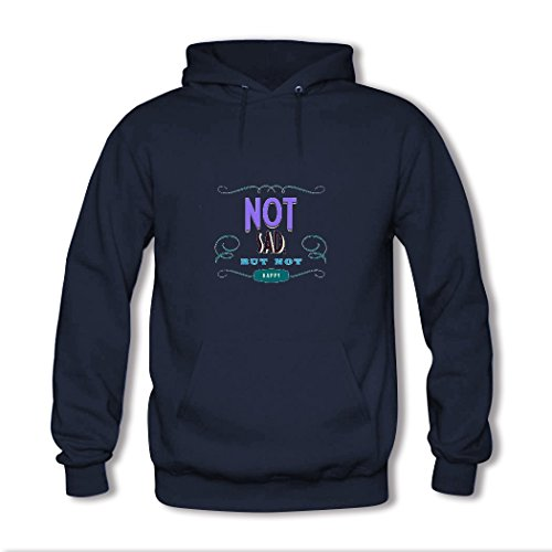 HKdiy Not sad but not happy Custom Men's Classic Hoodie Navy