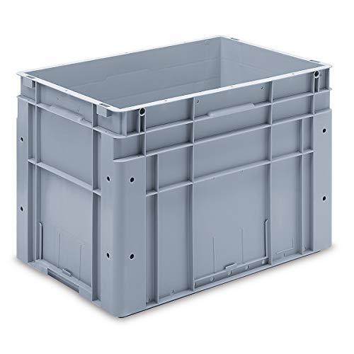 utz Euronorm-Stapelbehälter - Außen-LxBxH 600 x 400 x 420 mm - grau, VE 1 Stk - Box Euronorm Stapelkasten Euronorm Stapelkästen Euronorm-Stapelbehälter Euronorm-Stapelkasten Kiste Lagerkasten Mehrweg-Behälter Stapelkasten Transportkiste aus Kunststoff