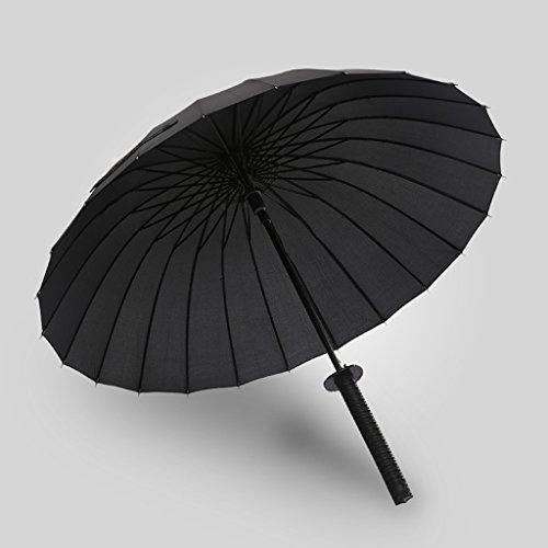 Jpp creative umbrella samurai umbrella men 24 bone long - handled knife ombrello personality sun ombrello sunny umbrella