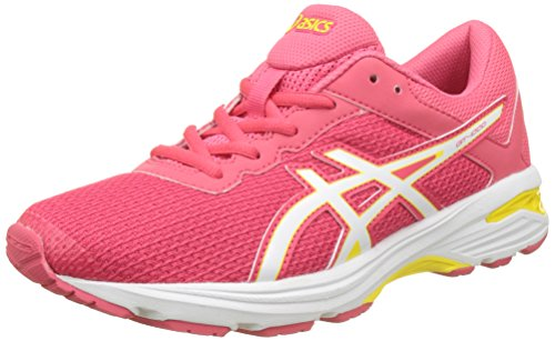 Asics Gt-1000 6 Gs, Scarpe Running Unisex-Bambini, Rosso (Rouge Red / White / Vibrant Yellow), 39 EU