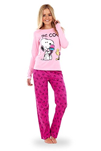 ladies long sleeve snoopy pyjama set womens mickey minnie mouse pj's nightwear - 41nE9loHsjL - Ladies Long Sleeve Snoopy Pyjama Set Womens Mickey Minnie Mouse PJ's Nightwear