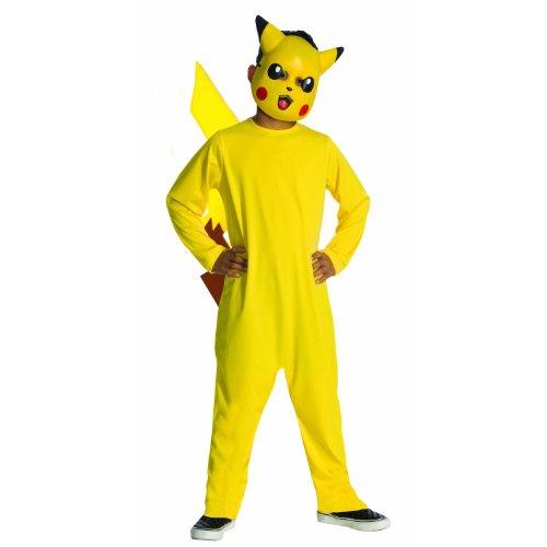 Pokemon Pikachu Kinder Kostuem, costume, Overall und Maske Gr. 110/116 (US 6)