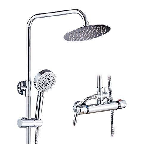 Utility-thermostat (GFF Duschset/Bad/Haushalt/Large Top Spray/WC/Handspray/Konstante Temperatur/Kompressor/Utility/Wandmontage, Silberweiß)