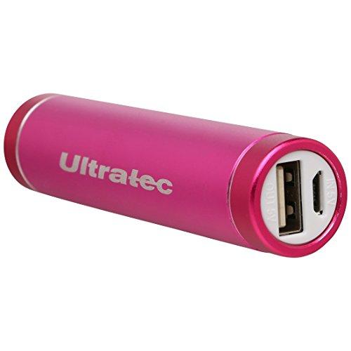 Ultratec Powerbank / portables Ladegerät / externer Akku für Smartphones und Tablets, 3200 mAh, Pink