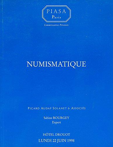 Numismatique, expert Sabine Bourgey, lundi 22 juin 1998, Hôtel Drouot