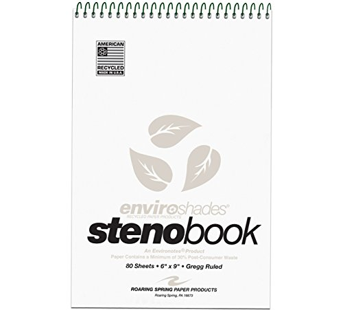 enviroshades-steno-notebook-gregg-6-x-9-gray-80-sheets-pad-4-pack-sold-as-1-package