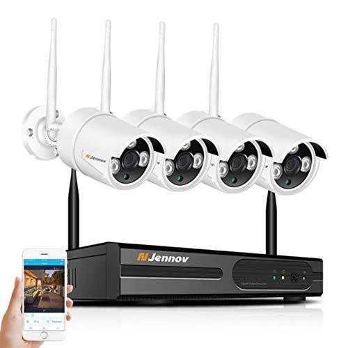 8CH NVR Überwachungskamera System WiFi 2MP 1080P Audio Outdoor Sound Wireless IP Kamera CCTV Video Surveillance Kit,4PcsCams,1080P+2MP+1TBHDD Audio Surveillance Kit