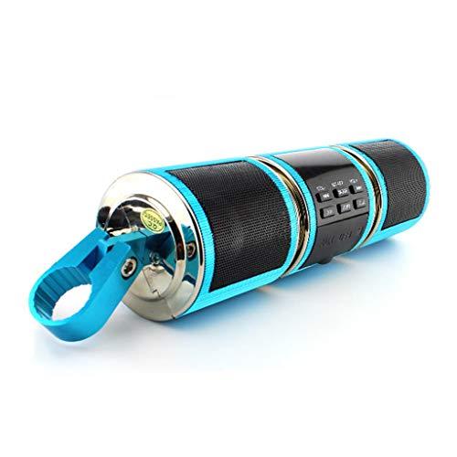 ADKINC Motorrad Stereo Lautsprecher Kompatibel mit Bluetooth Funktion mit APP Steuerung, Bike Audio Sound Verstärker System MP3 Musik Player, (gelb, weiß, blau, schwarz) -