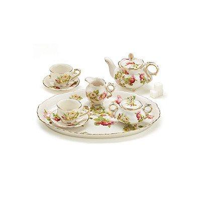 8 Piece Porcelain Mini Royal Rose Tea Set by Burton & Burton -