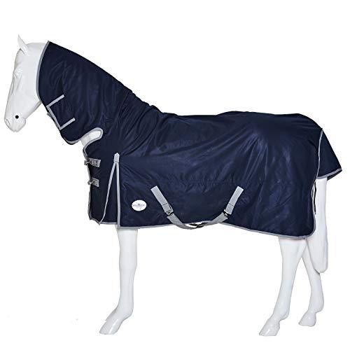 Taglie: Completo, COB e Pony Wonder Wish Horse Paraorecchie in Morbido Cotone Lavorato allUncinetto con Velo Blu