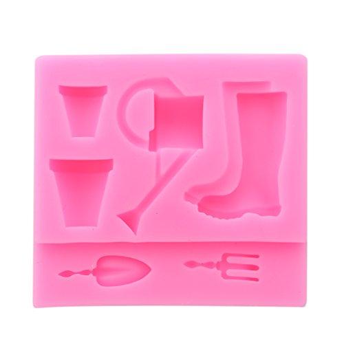 BeipeY Pouring Kettle Pot Kuchenform Schokoladenformen Candy Formen Antihaft-Backformen Eiswürfelbehälter für Kinder Parteien und Backen Block Themen Kuchen Dekoration Gebäck Dekoration Tools, Pink