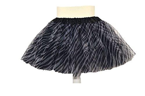 Zebra Kind Tutu (Soleil2012 Tutu Tütü für Kinder Kindertütü Tüllrock Ballettrock Petticoat Unterock Rock (92 - 140,)
