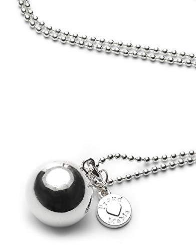 Proud MaMa Bola Klangkugeln Kugelkette Babyklingel Kugelkette Kugel Kette Versilberte Kugel | Schwangerschaft Schmuck