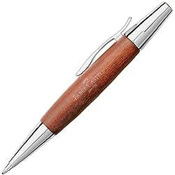 Faber Castell 148382 - Bolígrafo E-motion, con cuerpo en madera de peral, trazo B, color marrón coñac