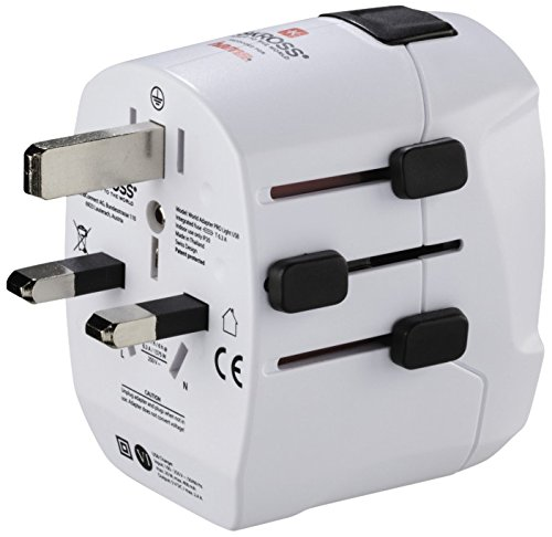 Hama Welt-Reisestecker inkl. 2 USB-Ports 'World PRO Light USB' (Reiseadapter für...