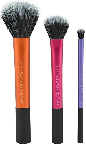 Real Techniques Coffret de 3 Pinceaux de Maquillage Duo Fiber