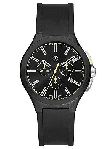 mercedes-benz-cronografo-da-uomo-mercedes-benz-sport-moda-nero-giallo-acciaio-inox-silicone