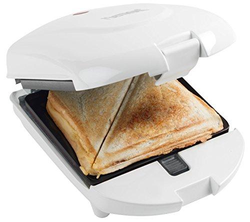 Bestron Antihaftbeschichteter 3-in-1 Sandwich-Toaster, 520 W, Weiß