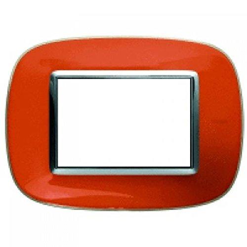 Bticino Axolute hb4803dr–AX della Placa 3m Arancione...
